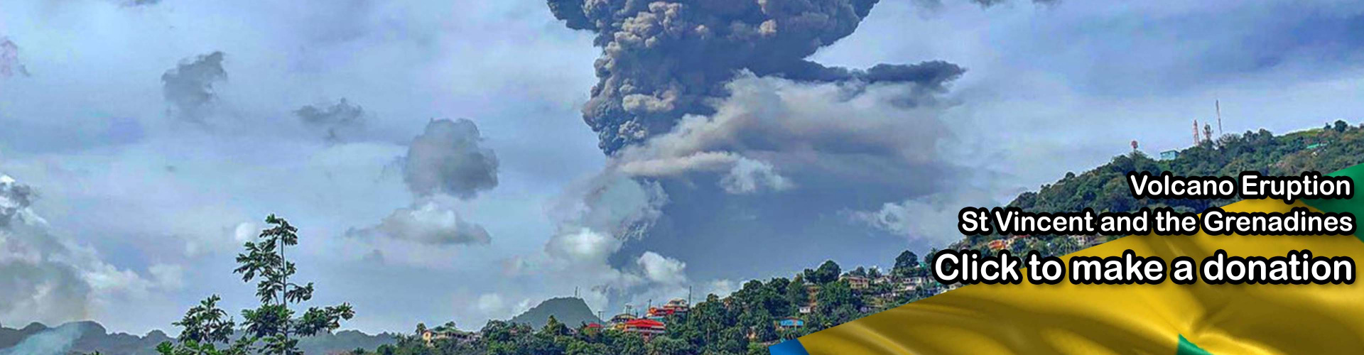 ST Vincent volcano please donate
