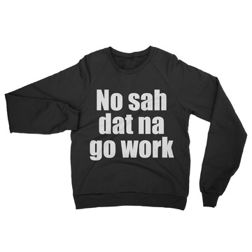 Crew-Neck-Unisex-Sweater-NO-sah-black 1